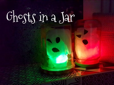 Ghosts in a Jar - DIY Halloween decorations