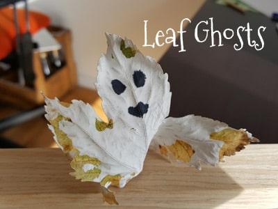 DIY Halloween Leaf Ghost