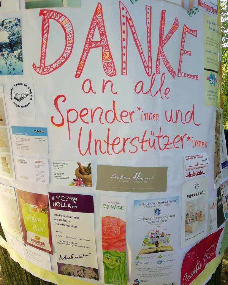 Kölner Stadtgarten Spende für Patenschaft
