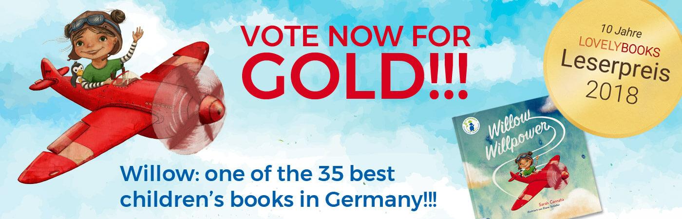JETZT FÜR GOLD zum Lovelybooks Leserpreis 2018